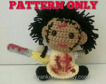 Leatherface Texas Chainsaw Massacre Inspired Amigurmi Doll Pattern ONLY