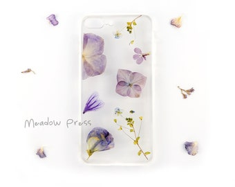 iPhone 7 PLUS / iPhone 8 PLUS case with real pressed flowers