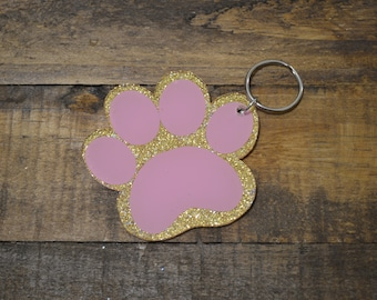 Paw Print, Dog or Cat Print Keychain