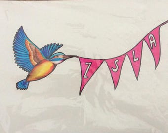 Custom name bunting picture