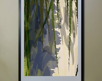 "Abstract Composition: Aspen_04_01d - Contemporary Art - Abstract Design - 26"" x 46"" and 13"" x 19"" - Limited Edition Print"