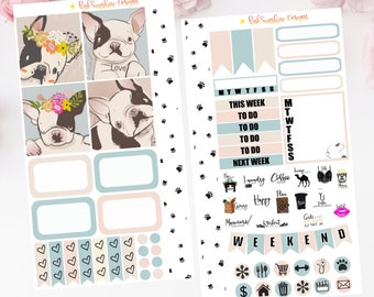 FRENCH BULLDOG PERSONAL Planner Stickers Set for your Planner Frenchie