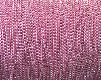 Pink chain necklace color 3x2mm
