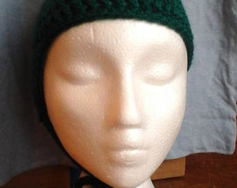 Hand crocheted child's frog hat