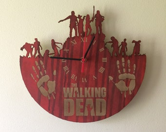 Walking Dead  inspired laser cut clock