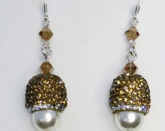 Long earrings, bridal earrings, pearl earrings, woman's earrings, pendant earrings, earrings silver 925, elegant earrings