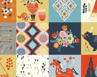 1/2 Yard Organic Cotton Fabric - Wildland Patch