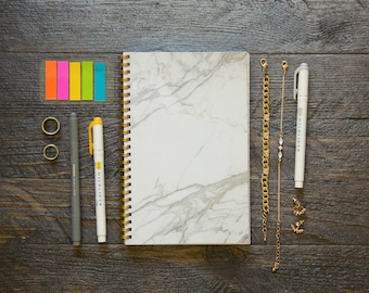Medium Weekly Planner (180-Pages) | 12 Months | Marble Planner