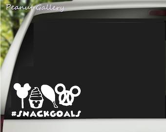 Snack Goals #snackgoals Vinyl Decal! Disneyland, Disney World, Dole Whip, Turkey leg, Pretzel, Ice Cream. Car, window, tumbler, Yeti sticker