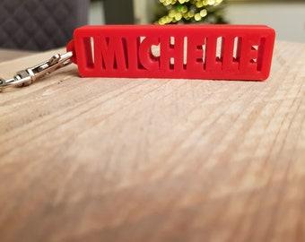 Personal Keychain   Custom Keychain   Keychain name   Word Keychain   3d Personalized Keychain