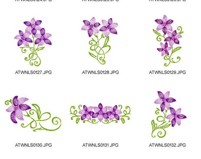 Art-Deco-Lilies. ( 10 Machine Embroidery Designs from ATW )