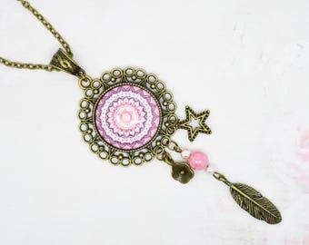 mandala cabochon necklace jewelry