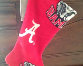 Bama Christmas Stocking, Alabama Christmas Stocking, Sport Stocking, Football Stocking, Fleece Christmas Stocking, Big Al, Collegiate Gift