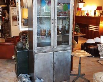Metal doctors or Medicine cabinet whisky cabinet display cabinet