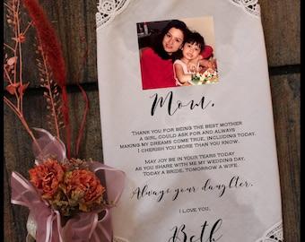 Mother of the Bride Handkerchief-Wedding Hankerchief-PRINTED-CUSTOMIZED-Wedding Hankies with Photo-Mother of the Bride Gift-LS11PadCop[49]