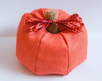 Pumpkin with bow - Fall Decor