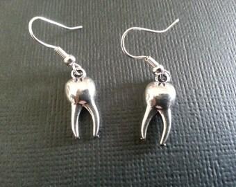 Silver Teeth Earrings