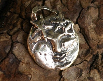 Man in the Moon Sterling Silver Artisan Charm