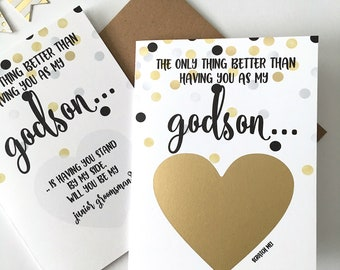 Will You Be My Junior Groomsman Proposal Card for Godson - The only thing better than having you - Will You be my Jr Groomsman - GOLD DOT