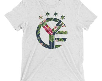 Floral Whiskey Riff Symbol T-Shirt