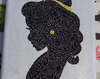 Handmade Princess Belle Cameo A5 Canvas