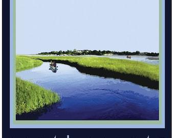 Narrow River Travel Poster