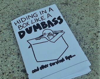 Hiding in a Box Like a Dumbass (and other survival tips): A zine about twee ghosts, mental illness, and sad boys