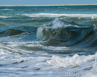 Ocean photography waves water beach picture 8x10 print 11x14 print 16x20 print