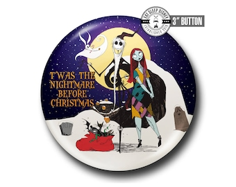 """Nightmare Before Christmas - Holiday - 3"""" Button"""