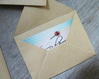 set of 10 small quality kraft envelopes