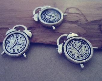 20pcs Antique Silver clock Pendant  Charms 13mmx18mm