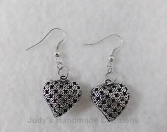 Heart Earrings Dangle, Heart Earrings,  Gift Under 10, Dangle earrings, Popular Earrings