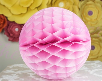 DUSTY ROSE HONEYCOMB / baby shower decoration ,wedding, event, party, birthday, Tissue Paper Lantern,Reusable,Wedding Shower Reception Decor