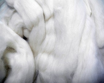 Alpaca Fiber Roving Top,  2.5 Pounds, Undyed Superfine Extremely Soft Natural White