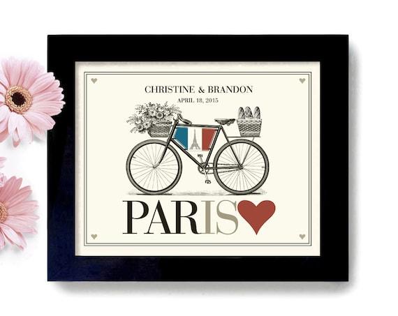 French Wedding Unique Engagement Gift Unique Wedding Gift Idea