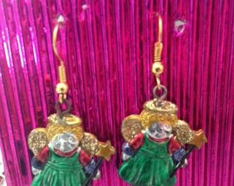 Christmas, Angels, Earrings, Jewelry, Jewellery,Festive