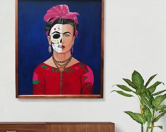 frida kahlo skull, frida kahlo painting, frida kahlo mexico frida kahlo original painting,frida mexico, frida kahlo art, frida kahlo poster