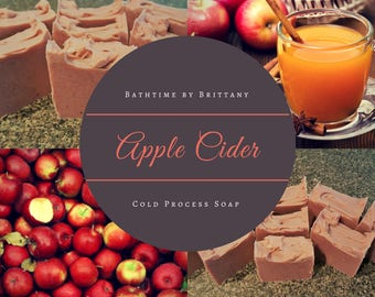 Apple Cider Cold Process Soap | Handmade | Artisan Soap | Goat Milk | Vegan | Fall Soap | Autumn Soap | Shea Butter | Coconut Oil