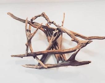 Driftwood sculpture abstract