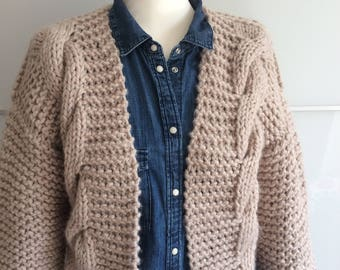 Knitted cardigan, Hand Knit cardigan sweater, Chunky knit cardigan, Woman knitwear, Knit jacket coat,