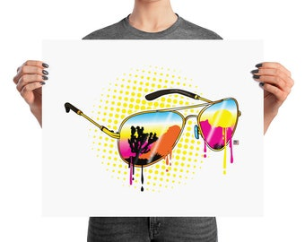 Desert Vision Joshua Tree Sunglasses Reflection Print