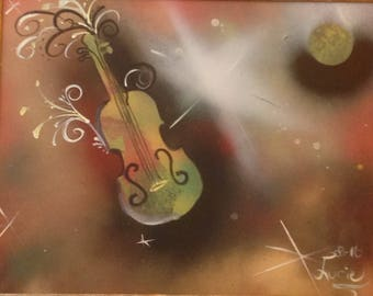 Original painting - once upon a time... a violin