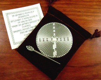 Handcrafted Labyrinth - Pocket Chartres Labyrinth - DT-POCKET