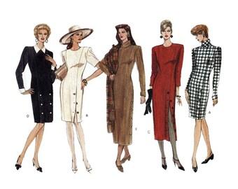 Women's Vogue Sewing Pattern, Straight Dress Size 12-14-16 Bust 34-36-38 Uncut Vogue Basic Design  1010