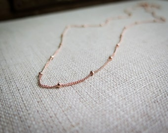 Layering Necklace Dainty Saturn Chain 14k Gold Fill Rose Gold Sterling Silver Options
