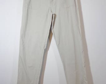 Light Khaki 90s Original LEE Mom Jeans with 5 Pocket, Half Elastic Waist Retro Fashion Style Size 12M