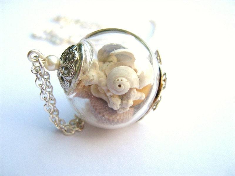 Sea shell necklace real seashell jewelry beach jewelry zoom aloadofball Gallery