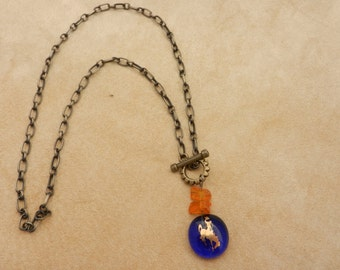 Cowgirl Blues with Amber Chain Lasso Necklace