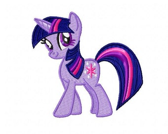 My Little Pony Twilight Sparkle Embroidery Design - Instant Download