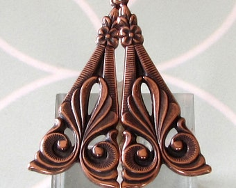 Art Deco Tamar Drop, Antique Copper, 2 pc. AC148